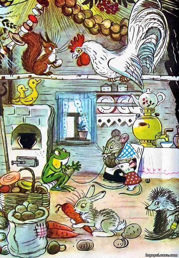 Рисунки сутеев мультфильмы