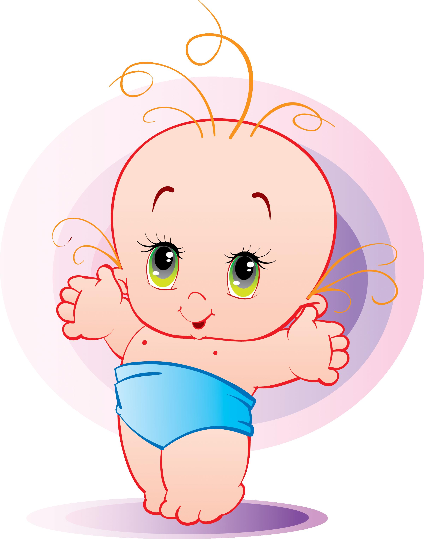 Картинка младенец рисованный